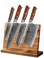 5 stücke Messer Set Damaskus aus Stahl