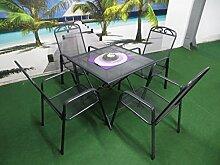 5-teilige Luxus Streckmetall Gartenmöbelgruppe