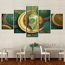 5-teilige modulare Bilder Wandkunst HD-Drucke