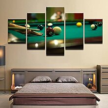 5-Teilige Printed Canvas Panel Billard Poster Hd