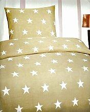 5 teilige Sterne Bettwäsche mit Reißverschluß