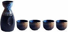 5-teiliges japanisches Sake-Set Traditionelles