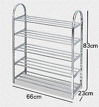 5 Tier Schuh Racks Einfache Edelstahl Lagerung Schrank Möbel Kreative Simplicity Schuh Veranstalter Regale ( größe : 66cm )