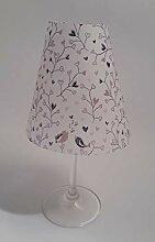 5 Tischlichter Lampenschirme für Weinglas
