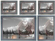 5-tlg. Collage-Rahmen-Set Lindale Sommerallee