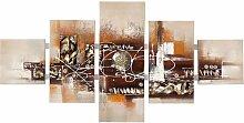 5 tlg. Gemälde Abstrakte Kunst East Urban Home