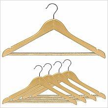 5-tlg Kleiderbügelset Holzkleiderbügel