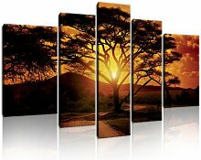 5-tlg. Leinwandbilder-Set Afrika ModernMoments