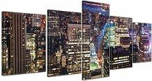 5-tlg. Leinwandbilder-Set New York, Fotodruck East