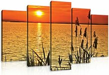 5-tlg. Leinwandbilder-Set Sonnenuntergang