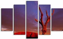 5-tlg. Leinwandbilder-Set Uluru bei Sonnenaufgang,
