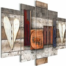 5-tlg. Leinwandbilder-Set Verzaubertes Ferienhaus