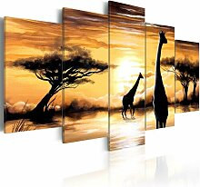 5-tlg. Leinwandbilder-Set Wildes Afrika East Urban