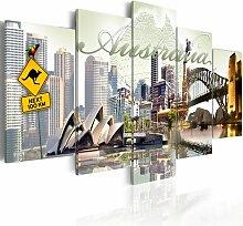5-tlg. Leinwandbilder-Set Willkommen in Australien