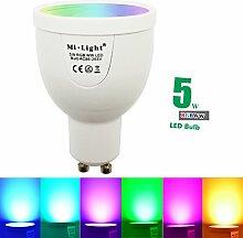 5W GU10dimmbar 2,4G Wireless MILIGHT LED