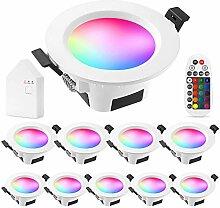 5 W WLAN-LED-Einbaustrahler, RGBWC(RGB+Kaltweiß +