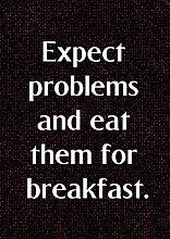 """5, wenn Probleme und essen Sie sie, für Frühstück motivierendem Love Life """","""" Belive Bestimmung Best Color Bilderrahmen für DIN A3, Poster-Prin"""
