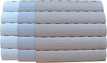 5 x 2 Meter PVC Rollladenlamelle Profil