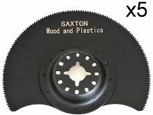 5x 88mm Saxton segmentiert Holz Klingen fein
