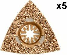 5x Antler 78mm Hartmetall-Raspeln fein