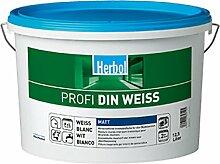 5 x Herbol Wandfarbe Profi DIN-WEISS 12,5l