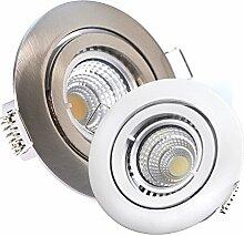 5 x LED-Einbaustrahler PAGO 230V - DIMMBAR 5,5