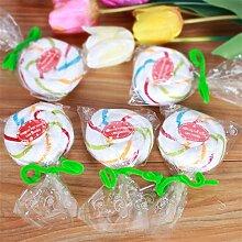 5x Lollipop Candy Handtuch Waschlappen, Hochzeit