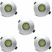 5 x Mini 1W LED Downlight inkl. Netzteil Terrassen