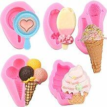 5 x Mini-Sommer-Eis-Tüten Eis Eis Eis Eis am