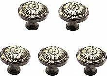 5x/Pack Kupfer Tür Cabinet Knauf, 100% Solides Kupfer europäischen Classic Bronze Möbelknopf Schublade Schrank Schrank Tür Griff Single Loch montiert–Neues Design