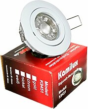 5 x Power LED Einbaustrahler Bajo 230V 5Watt in