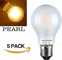 5x Russel Paul Vintage Stil Edison Schraube LED