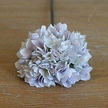 5x Superb Simulation Blume Hortensie Künstliche Blumen, Seide, Home Hochzeit Dekoration Zubehör 48cm Pink und Light Purple hellviole