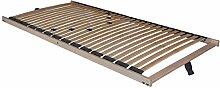 5 Zonen Lattenrost Lattenrahmen Comfort besonders niedrig nur 5 cm Höhe 28 Federholzleisten günstig (100x200 cm)