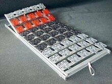 5 Zonen Teller Lattenrost / Tellerfeder Lattenrahmen 120 x 200 oder 140 x 200 cm Kopfteil und Fußteil verstellbar Tellerlattenrost / Tellerlattenrahmen günstig