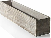 50,8cm rechteckig Rustikal Holz Blumentopf mit
