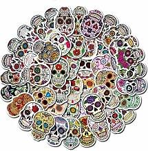 50 Aufkleber Totenkopf Mexican Calavera