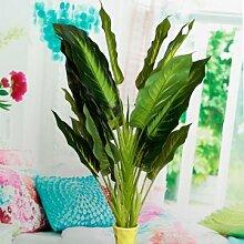50 cm Lebensechte Blätter Immergrüne Künstliche Pflanze Simulation Blumen Bush Topf Blume Wohnkultur