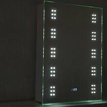 50 cm x 70 cm Spiegelschrank Mcsherry mit LED
