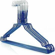 50 Drahtkleiderbügel 2.3mm verzinkt mit blauer