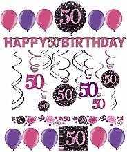 50.Geburtstag Dekoration Deko-Set
