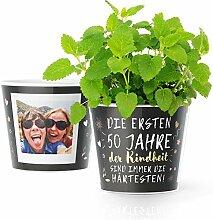 50.Geburtstag Geschenk - Blumentopf (ø16cm) |