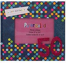 50. Geburtstag Geschenkverpackung Fotoalbum für 5010,2x 15,2cm Fotos Geburtstag Geschenkidee