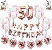 50. Geburtstagsdeko Banner Ballon,Geburtstagsparty