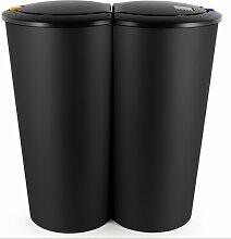 50 L Mülleimer mit Touch-Deckel