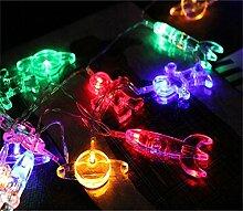 50 LED Kinderzimmer LED Lichterkette Astronaut