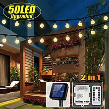 50 LED Solar Lichterkette und Batterie(2 in 1)