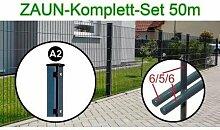 50 lfm.Zaun Komplettset I Höhe 1000 mm I