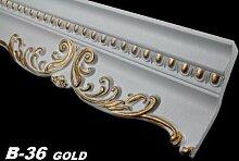 50 Meter Dekorleisten Eckprofile Dekor Innen Decke 58x135mm, B-36 GOLD