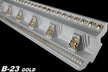 50 Meter Dekorleisten Stuckprofile Dekoration Innen 70x71mm, B-23 GOLD